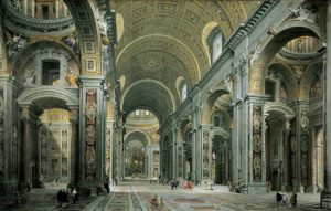 Pannini, Nave of St. Peter's Basilica (1731)