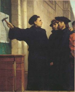 Ferdinand Pauwels, Luther Posting the 95 Theses (1872)
