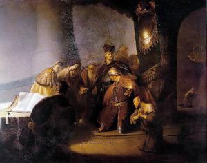 Rembrandt, Judas Repentant (1629)